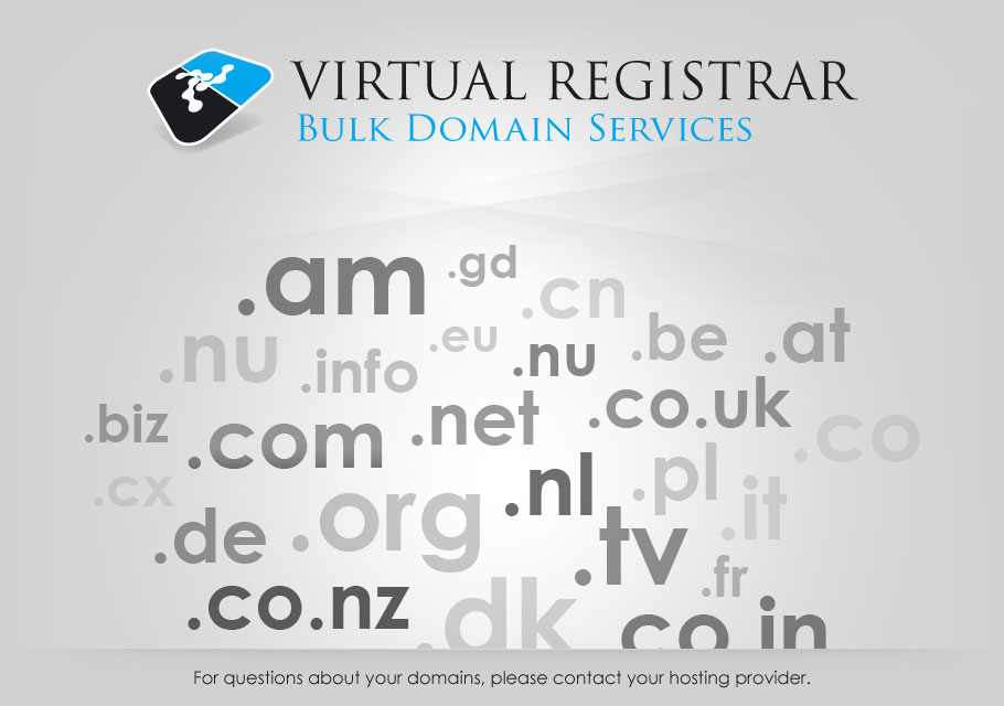 Virtual Registar - Bulk Domain Services